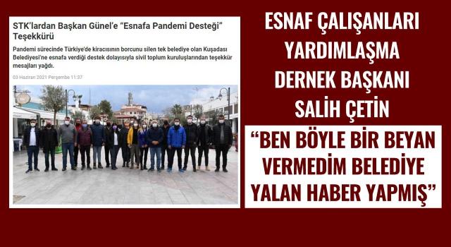 Salih Çetin; Belediye Yalan Haber Yapmış!