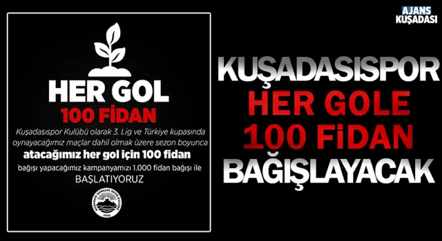 Kuşadasıspor Her Gole 100 Fidan Bağışlayacak!