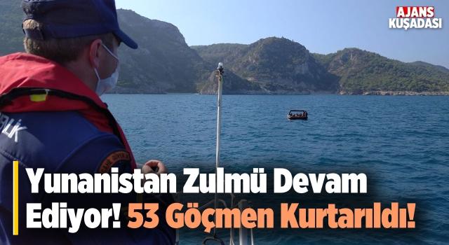 Kuşadası'nda 53 Göçmen Kurtarıldı