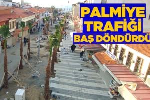 Kuşadası'nda Palmiye Trafiği Baş Döndürüyor!