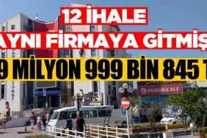 CHP'li Kuşadası Belediyesi'nden Aynı Firma 12 İhale Almış!