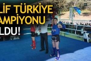 Muaythai Gençler Türkiye Şampiyonu Elif Oldu!