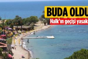 CHP'li Meclis Üyesi Halka Açık Olan Kıyıyı Kapattı!
