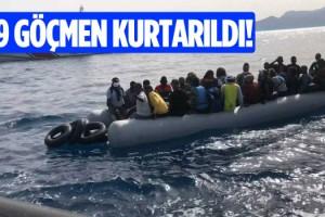 Kuşadası Açıklarında 39 Göçmen Kurtarıldı!