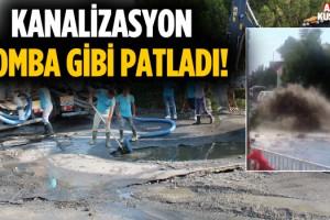 Kuşadası'nda Kanalizasyon Bomba Gibi Patladı!