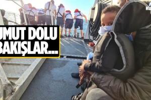 Botları Sürüklenen Göçmenler Kuşadası'nda Kurtarıldı