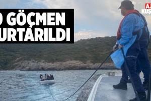Kuşadası'nda 19 Göçmen Kurtarıldı!