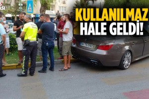 Kuşadası'nda Maddi Hasarlı Trafik Kazası