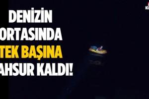 Lastik Botta Mahsur Kalan Göçmen Kurtarıldı!