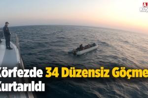 Kuşadası Körfezinde 34 Göçmen Kurtarıldı